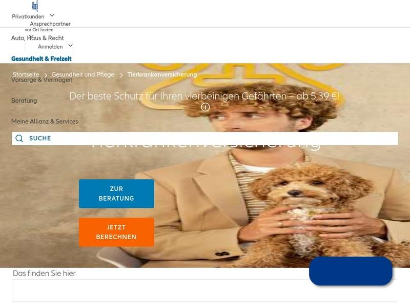 Screenshot von https://katzeundhund.allianz.de/static-resources/index-flash-cat.html